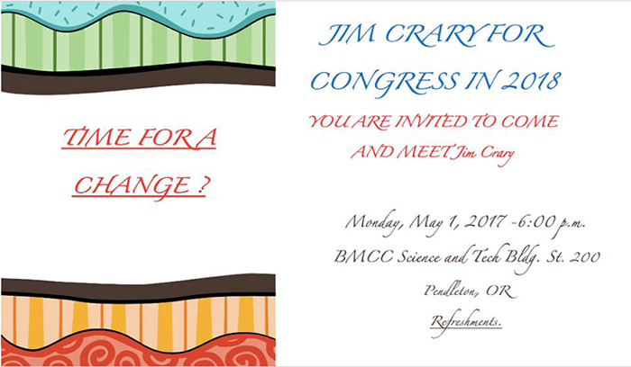Jim Crary For Congress in 2018